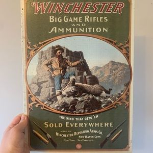 Winchester / Ram Hunter / Tin Sign / Poster